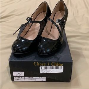 Chase & Chloe Patent Mary Jane Shoes 6